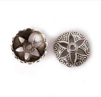 Yüksek Kalite 5 * 15mm 10 adet Antik Gümüş Kaplama Çinko Alaşım Sonu Boncuk Caps DIY Moda Beacelet Püsküller Takı Bulguları için Fit