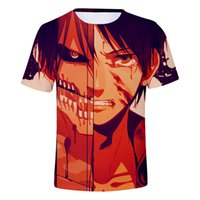 28b11fc53ccfe Nova Chegada. Novo 3d Ataque de Impressão Em Titãs Mens T Shirt O Pescoço  Anime T-shirt Ocasional Gamer Harajuku Roupas Homens de Manga Curta ...