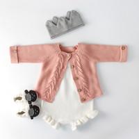 2018 Baby Jungen Pullover Feste Baby Mädchen Kleidung Strickpullover für Neugeborene Mädchen Kleidung Jungen Strickjacken