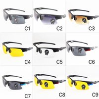 8 Farben Günstige Sportbrillen Männer Outdoor Sonnenbrille Unisex Design UV400 Motorrad Sonnenbrille PC Halbrahmen Großhandel