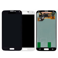 100% Originale Super AMOLED Per SAMSUNG Galaxy S5 G900F G900H Display LCD Touch Screen Digitizer Assembly con Adesivo