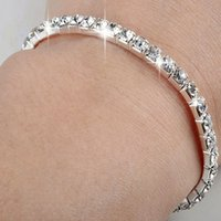 Fashion Crystal Rhinestone Stretch Bracelet - Bangle Wedding...
