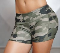 Women Sexy Sport Shorts Camo Shorts With Side Phone Pocket F...