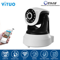 HD 720P Wireless Security IP Camera Wifi Audio bidirezionale IR-Cut Night Vision Audio Allarme di sorveglianza Indoor Baby Monitor YITUO