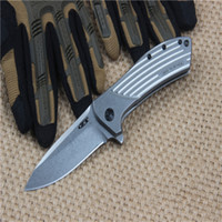 ZT0801 steel version of the D2 folding knife camping hunting...