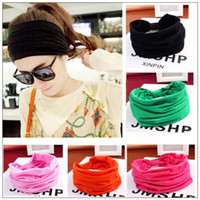 8 Colors Women Wide Sports Yoga Headband Stretch Hairband El...