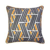 Nowoczesne pomarańczowe czarne mieszanki paski dekoracyjne rzut poduszki skrzynka cyfrowa druk aksamitna podłoga sofa krzesło domowa pościel poduszka pokrywa 45x45 cm