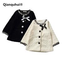 Qianquhui Nova Criança Meninas Snowsuit Zipper Botões Casaco Com Capuz Criança Criança Jaqueta Quente Blusão Roupas Para Meninas 2-7A