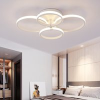Minimalism living Study room bedroom Circel Rings Modern Led...