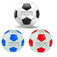 Music Angel JH-ZQBT3 Mini Football Super Bass Mp3 Player Hi-Fi Bluetooth altavoces para Rusia Copa Mundial