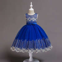 2018 childrens embroidered princess dresses kids party cloth...