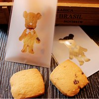 50pcs Cute Bear Cartoon Cookies Biscuits Bags Self- adhesive ...