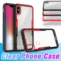 Newest Case Soft Color Edge Clear Transparent Back TPU Cases...