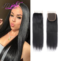 Brazilian Human Virgin Hair 4x4 Lace Closure Straight Natura...