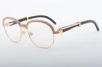 19 Best-venda de elevada qualidade ângulo boi natural arredondada óculos, moda high-end quadro diamante atmosférica 1116728-A Tamanho: 60-118-140mm