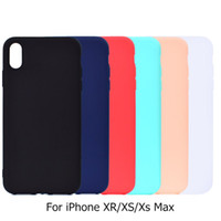 For iphone XS Max XR Case Ultra- thin Soft Silicone Plain Fit...