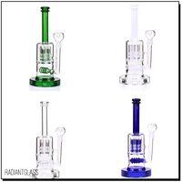 """12 """"Heavy 20mm basis Glasbong Heißer verkauf ölplattformen zwei Funktionen reifen und finger perc 4 farbe wasser glas rohr-14"""""""