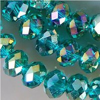 1000PCS wholesale 4x6mm Hole green AB Swarovski Crystal Gems...