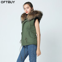 OFTBUY 2017 brand new army green winter jacket coat women fu...