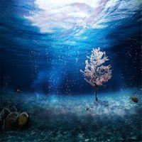المغمورة العالم الزفاف الخلفيات التصوير الخيال مطبوعة شجرة أسماك المحيط الأزرق الأطفال أطفال الخلفيات للصور الاستوديو