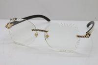 무료 배송 8200762A 남여 안경 핫 목재 광학 무테 큰 돌 화이트 내부 블랙 버팔로 호른 여성 안경은 안경을 운전