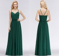Real Pictures 2018 New Designer Emerald Green Long Bridesmai...