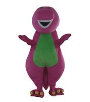2018 großverkauf der fabrik Erwachsenen Barney Cartoon Maskottchen Kostüme auf Erwachsene Größe Kostenloser Versand