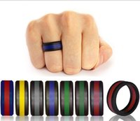 Silicone Wedding Ring Men Randomly Color Flexible Silicone R...