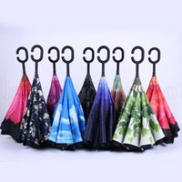 Creative Inverted Shade Umbrellas Double Layer With C Handle...