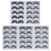 3D Mink Eyelash Hair 5 Pair False Eyelashes Extension Eyelas...