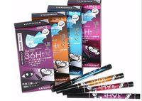 YANQINA 36H Verfassungs Eyeliner Bleistift wasserdichte schwarze Eyeliner Feder kein blühender Präzisions-flüssiger Eyeliner 12pcs / box DHL-Verschiffen