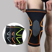 1 Par Fitness Correr Ciclismo Rodillera Apoyabrazos Elastic Sport Compresión de Seguridad Rodilla Manga para Voleibol de Baloncesto Rodilleras