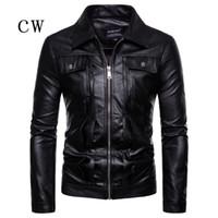 2018 novas jaquetas de couro homens outono inverno roupas de couro roupas homens jaquetas masculinas de negócios casuais casacos