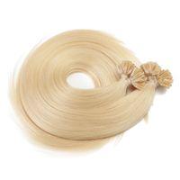 """Elibess Grade 8А бразильский Remy U кончик волос Extensios Nail Tip девственные наращивание волос 16 """"-22"""" Светлый цвет 613 #, Бесплатная доставка"""