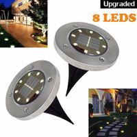 Éclairage solaire à l'énergie solaire 8 LED de la voie de jardin imperméable pont de jardin éclairage paysage pour la maison de jardin