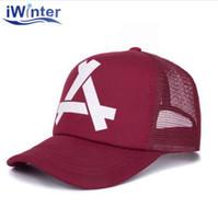 IWINTER Yeni Yaz Beyzbol Örgü Kap Snapback Şapka Moda Beyzbol Şapkaları Trucker Ayarlanabilir Monte Kap Şapka Hip Hop Kadın Erkek Kap