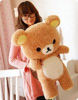 2016 Stuffed Kawaii Gift San-x Rilakkuma Relax Bear 55cm Soft Pillow Plush Toy Doll Kawaii Kids Stuffed Toys For Children Dolls