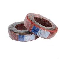 케이블 단색 용 2 핀 케이블 5050 3528 5630 3014 2835 LED 스트립, 600m / lot, 600m 길이, 빨간색과 검은 색 와이어