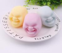 Sfera del fumetto giapponese palla TPR materiale di protezione ambientale bambola sfogo giocattolo Bambola faccia umana Anti-stress Decompression Ball Toy Gift