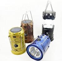 Energia Solar LEVOU Luz de Carregamento USB Lanterna Camping Telescópica Lidar Com Tenda de Aço Inoxidável Lâmpada De Emergência Portátil Popular luz
