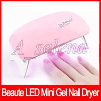 LED UV Mini chiodo del gel Nail Polish Potente USB Lamp chiaro polacco Chiodi attrezzi facciali Nail Care Tools Fast Dry 6W macchina Rosa Bianco