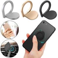 Soportes giratorios del teléfono celular del hilandero del tenedor del soporte del anillo de dedo 360 ° para el teléfono móvil universal