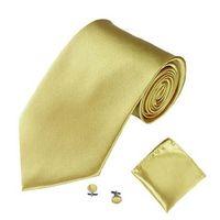 Krawatte Set Taschentuch Manschettenknüppel Business Polyester Krawatte Hanky Krawatte Marke Krawatten für Männer Freizeit Hochzeit Weiß Schwarz Grau Rot