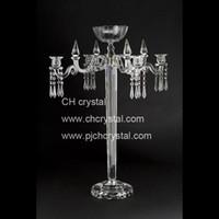4 brazos con cuenco de flores 80cm Candelabros de cristal candelabro de la boda centros de mesa de la boda