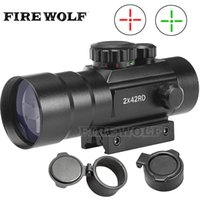 3x42 Red Green cross Airsoft Rifle Scope Sight with 20mm and...