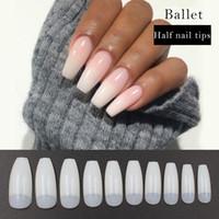 pre design artificial nails half nails airbrush acrylic