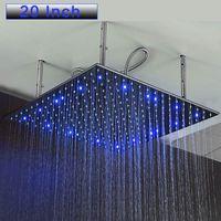 20 بوصة الحمام الأمطار سبا رؤساء دش كبير الصمام الخفيفة دش الخيالة سقف الاستحمام ساحة المطر دش فرشاة