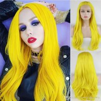 Hot Sexy Cosplay Yellow Color Natural Wavy Wigs Free Shippin...
