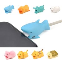 Cable Bite Charger Cable Protector Savor Cover para iPhone Diseño lindo Charging Shark con paquete Retail