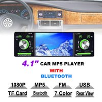4. 1 Inch 1 Din HD Car Stereo Radio Bluetooth MP3 MP5 Player ...
